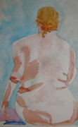 Voluptuous Painting Posters - Nude  Poster by Beverley Harper Tinsley
