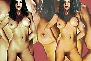Female Nudes Posters - Nude Female Portrait Sara Standing2 Poster by G Linsenmayer
