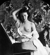 Nude Photograph Prints - NUDE FIXING HAIR, c1861 Print by Granger