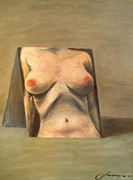 Switzerland Mixed Media - Nude In A Mirror by Dan Haraga