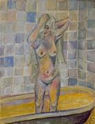 Nude In Bath Print by Kristelle Ulrich