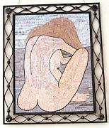 Nudes Reliefs - Nude in stone mosaic by Petrit Metohu
