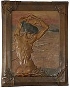 Artwork Reliefs - Nude Lady 1 by Akif Senoglu