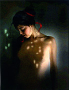 Red Ribbon Digital Art - Nude Light by Robert Foster