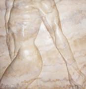 Nude Male Strolling Print by Tina Hariu