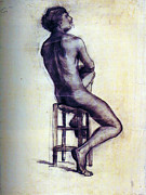 Nude Man Sketch Print by Sumit Mehndiratta