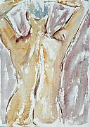 Figure Pose Paintings - Nude by Michal Boubin