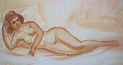 Shape Pastels - Nude model by Bill Joseph  Markowski
