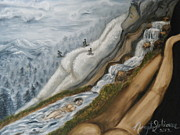 Waterfalls Paintings - Nude National Park by Nancy L Jolicoeur