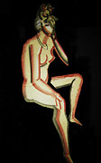Nudes Pastels - Nude- One of Three by Reb Frost