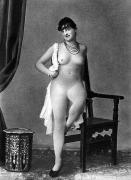 Nude Photograph Framed Prints - NUDE POSING, c1880 Framed Print by Granger