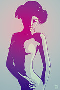 Nude Drawings Prints - Nude Princess Leia Print by Giuseppe Cristiano