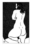 Sketch Prints - Nude Sketch 44 Print by Leonid Petrushin