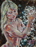 Wilma Kleinhans - Nude with feathers