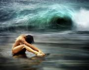 Surf Lifestyle Photos - Nude Woman on Beach by Monica and Michael Sweet - Printscapes