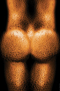 Cantaloupe Framed Prints - Nudist - Just Cheeky Framed Print by Mike Savad