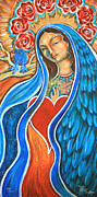 Red Robe Paintings - Nuestra Senora Maestosa by Shiloh Sophia McCloud