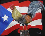Puerto Rico Paintings - Nuestro Orgullo  meaning Our Pride by Gloria E Barreto-Rodriguez