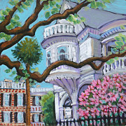 Charleston Houses Paintings - Number 2 Meeting Street by Detta Cutting Zimmermann