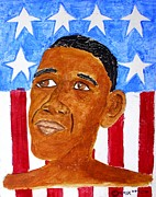 Michelle Obama Paintings - Number 44 by William Tilton
