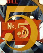 Demuth Posters - Number 5 in Gold Poster by Pg Reproductions