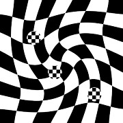 Op Art Digital Art Posters - Number 55 Poster by Brad Hartung