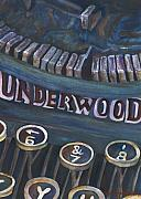 Typewriter Keys Paintings - Number 7 by Barb Pearson