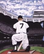 Yankees Prints - Number 7  Print by Jorge Delara