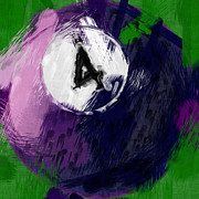Sports Art - Number Four Billiards Ball Abstract by David G Paul