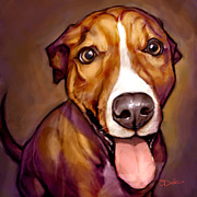 Dog Portraits Prints - Number One Fan Print by Sean ODaniels