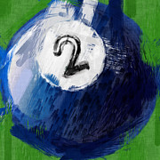 Number Two Billiards Ball Abstract Print by David G Paul