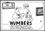 Laughzilla Drawings - Numbers in Business by Yasha Harari