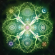 Enlightenment Posters - Numinosity Mandala Poster by Cristina McAllister