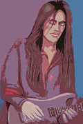 Guitar Player Pastels Posters - Nuno Bettencourt 1 Poster by Denise Haddock