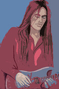 Guitar Player Pastels Posters - Nuno Bettencourt 2 Poster by Denise Haddock