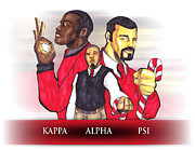 Greek Mixed Media Framed Prints - Nupes R Us Framed Print by Tu-Kwon Thomas