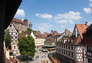 Old Frame Houses Prints - Nuremberg historic center Print by Andrew  Michael