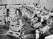 Infantile Paralysis Photos - Nurse Attend To A Room Full Of Polio by Everett