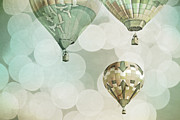 Celebration Art Print Prints - Nursery Mint Balloons Print by Andrea Hazel Ihlefeld