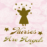 Watching Over Posters - Nurses Are Angels Poster by Daryl Macintyre