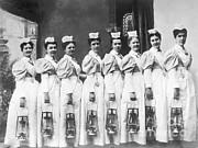 Science Source - Nurses On Night Rounds 1899