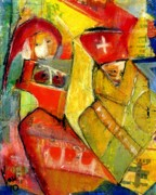 Outsider Art Mixed Media - Nursing The Pope by Ken Law