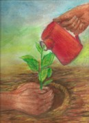 Growth Pastels - Nurture by Gayatri Ketharaman