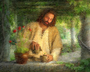 Word Framed Prints - Nurtured by the Word Framed Print by Greg Olsen