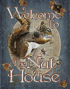 Cabin Paintings - Nut House by JQ Licensing
