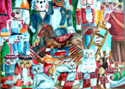 Santa Claus Mixed Media Originals - Nutcracker Suite by Mindy Newman