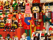 Christmas Market Prints - Nutcrackers Print by Martina Thompson