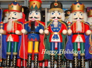 Nutcrackers Prints - Nutcrackers Print by Mia Alexander