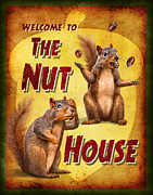 Squirrels Framed Prints - Nuthouse Framed Print by JQ Licensing