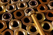 Steel Photos - Nuts and Screw by Carlos Caetano